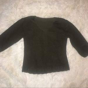 Vintage Green Knit Sweater